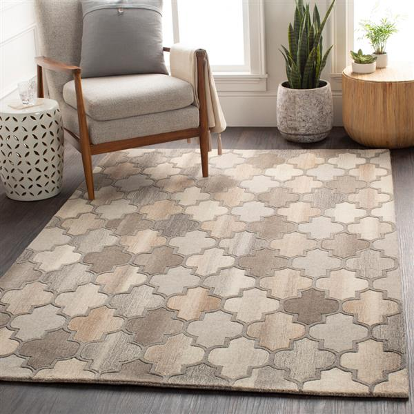 Surya Forum Transitional Area Rug - 9-ft 9-in - Round - Brown