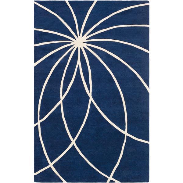 Surya Forum Modern Area Rug - 12-ft x 15-ft - Rectangular - Dark Blue