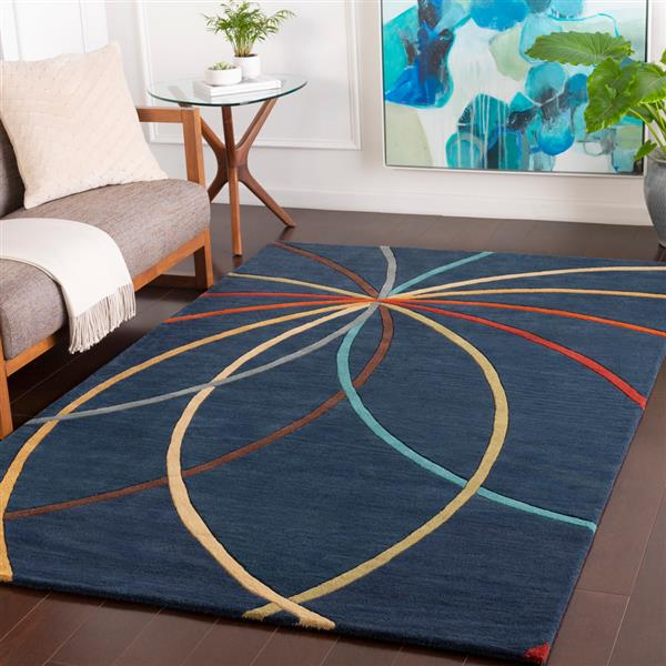 Surya Forum Modern Area Rug - 8-ft x 11-ft - Rectangular - Navy