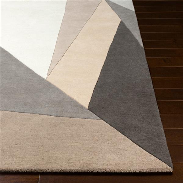 Surya Forum Modern Area Rug - 10-ft x 14-ft - Rectangular - Cream