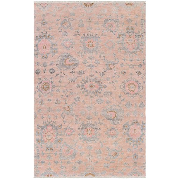 Surya Gorgeous Updated Traditional Area Rug - 6-ft x 9-ft - Rectangular - Pink
