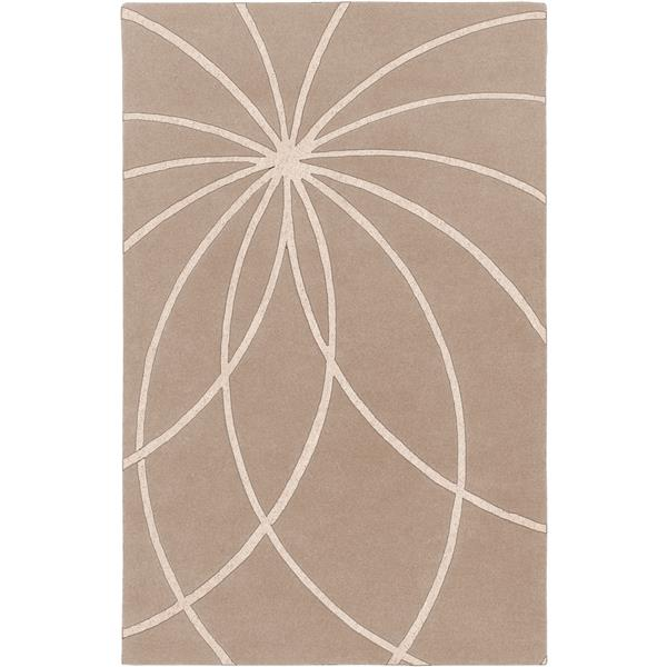 Surya Forum Modern Area Rug - 8-ft x 11-ft - Rectangular - Khaki