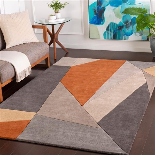 Surya Forum Modern Area Rug - 10-ft x 14-ft - Rectangular - Burnt Orange