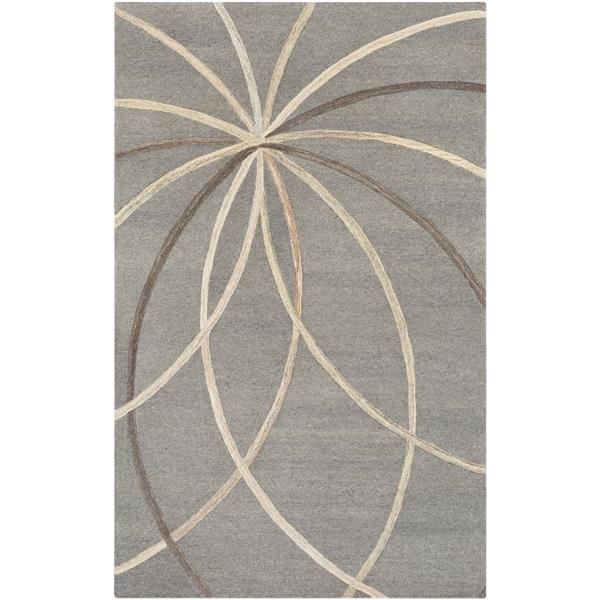 Surya Forum Modern Area Rug - 7-ft 6-in x 9-ft 6-in - Rectangular - Gray