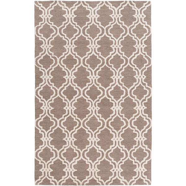 Surya Gable Transitional Area Rug - 8-ft x 10-ft - Rectangular - Taupe