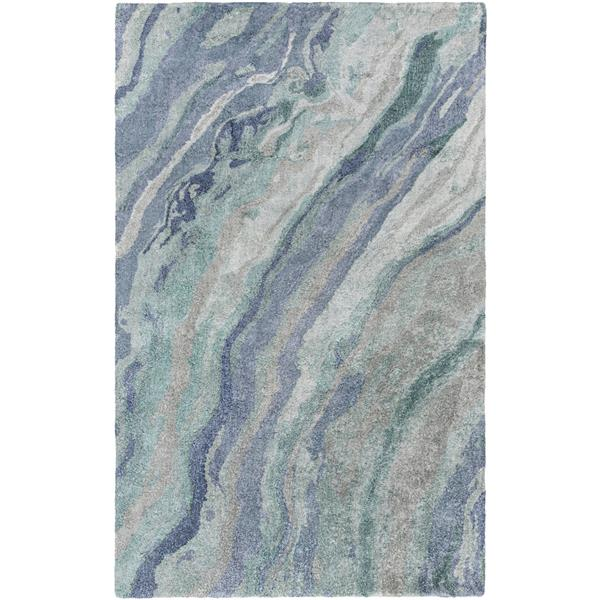 Surya Gemini Modern Area Rug - 3-ft 3-in x 5-ft 3-in - Rectangular - Teal