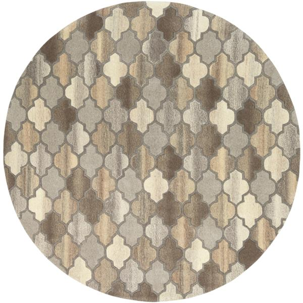 Surya Forum Transitional Area Rug - 4-ft - Round - Brown
