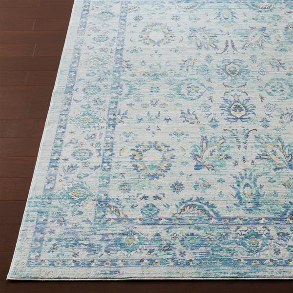 Surya Germili Updated Traditional Area Rug - 3-ft 11-in x 5-ft 7-in - Rectangular - Aqua