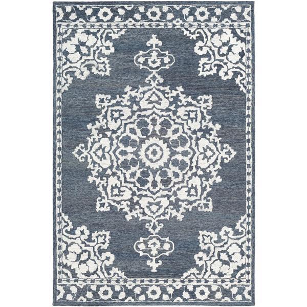 Surya Granada Traditional Area Rug - 9-ft x 12-ft - Rectangular - Charcoal