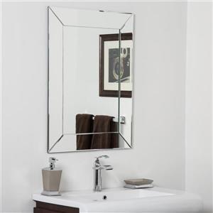 Miroir pour salle de bain Avie de Décor Wonderland, 23,6 po x 15,75 po