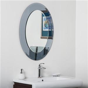 Miroir ovale pour salle de bain moderne Cayman de Décor Wonderland
