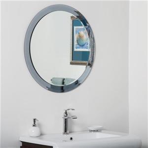 Decor Wonderland Charles Round Modern Bathroom Mirror