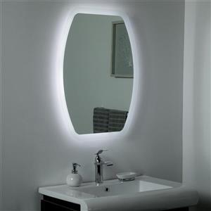 Miroir de salle de bain à DEL Lexy de Décor Wonderland, 31,5 po x 23,6 po