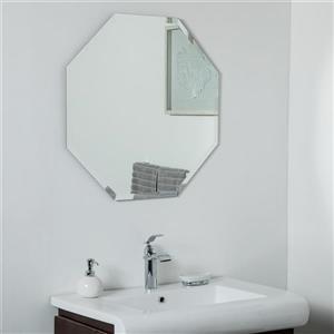Miroir sans cadre Vantall de Décor Wonderland, 27,5 po x 27,5 po
