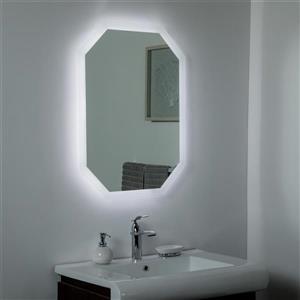 Miroir de salle de bain à DEL Margot de Décor Wonderland, 23,6 po x 31,5 po