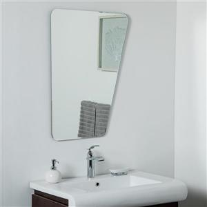 Miroir sans cadre Alisson de Décor Wonderland, 31,5 po x 23,6 po