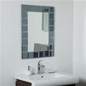 Miroir sans cadre SilverLake de Décor Wonderland, 31,5 po x 23,6 po