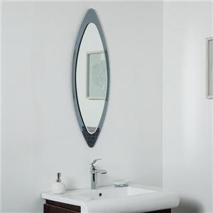 Miroir sans cadre Cat Eyede Décor Wonderland, 13,75 po x 39,5 po