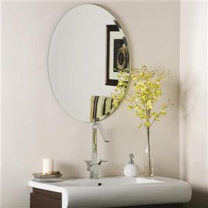 Miroir ovale sans cadre biseauté Odelia de Décor Wonderland