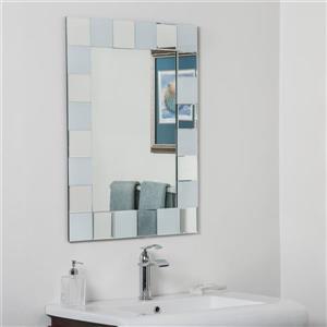 Miroir de salle de bain Ali de Décor Wonderland - 31,5 po x 23,6 po