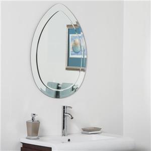 Miroir de salle de bains moderne Droplet de Décor Wonderland