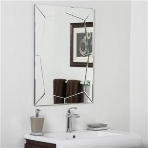 Miroir pour salle de bain Carstadt de Décor Wonderland, 31,5 po x 23,6 po