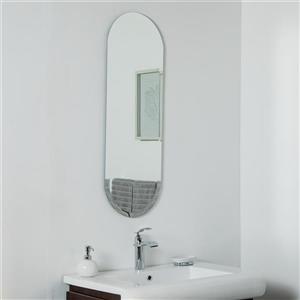 Miroir sans cadre long Addy de Décor Wonderland, 39,5 po x 13,75 po