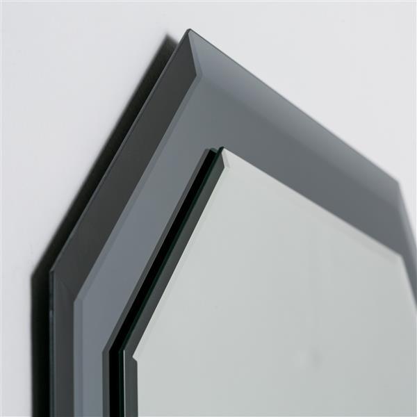 Decor Wonderland Grella Frameless Wall Mirror - 31.5-in x 23.6-in