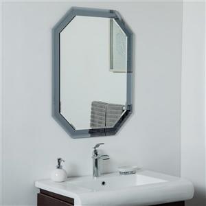 Miroir mural sans cadre Grella de Décor Wonderland, 31,5 po x 23,6 po