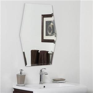Miroir de salle de bain Century de Décor Wonderland - 31,5 po x 23,6 po