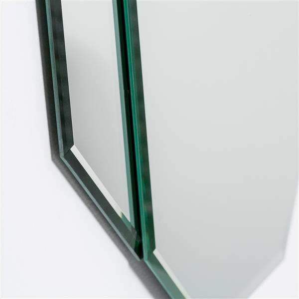 Decor Wonderland Bannery Frameless Bevel Mirror - 31.5 x 23.6-in