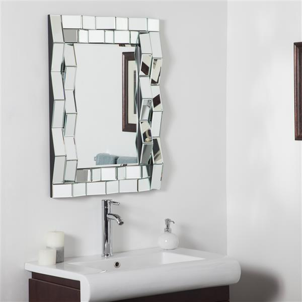 Decor Wonderland Iso Modern Bathroom Mirror - 31.5-in x 23.6-in