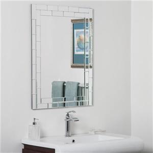 Miroir de salle de bain Grand Stree de Décor Wonderland, 31,5 po  x 23,6 po