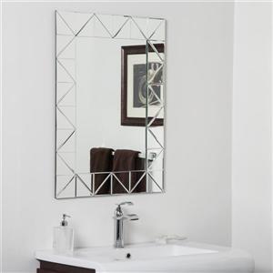 Miroir de salle de bain Miami de Décor Wonderland - 31,5 po x 23,6 po