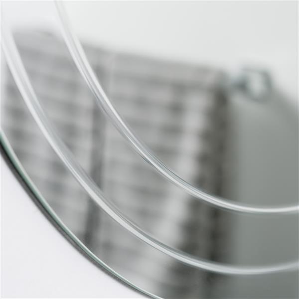 Decor Wonderland Turner Frameless Round Wall Mirror- 30-in