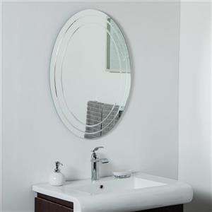 Decor Wonderland Tate Frameless Oval Mirror - 31.5-in x 23.6-in
