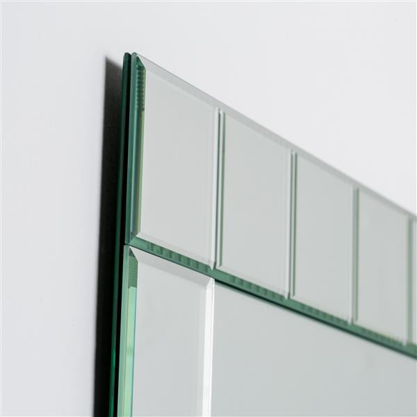 Decor Wonderland Lalo Large Frameless Mirror - 31.5-in x 23.6-in