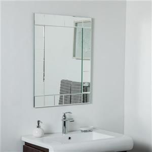 Miroir sans cadre Lalo de Décor Wonderland, 31,5 po x 23,6 po