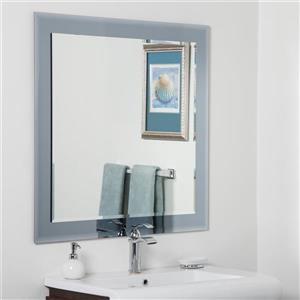 Miroir carré pour salle de bain Moscou de Décor Wonderland, 35 po x 35 po