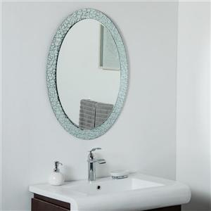 Miroir sans cadre ovale Jewel de Décor Wonderland