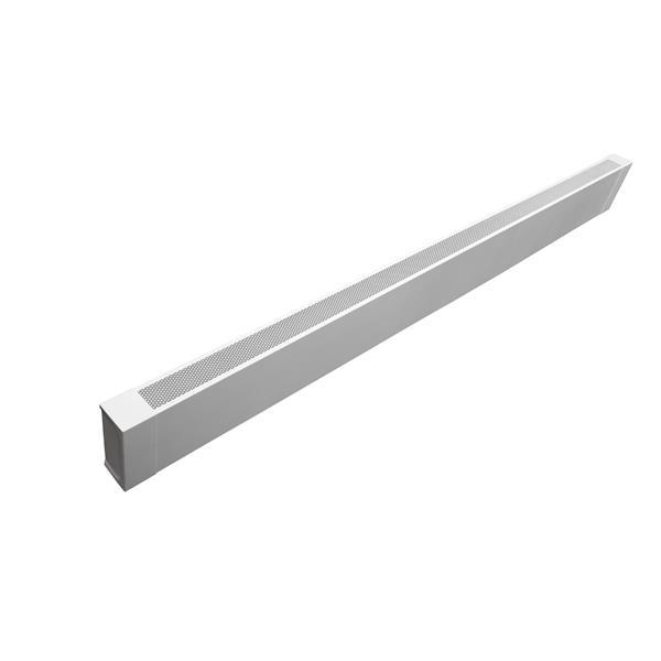 Veil Atlas Baseboard Heater Cover - 7-ft - Satin White Aluminum