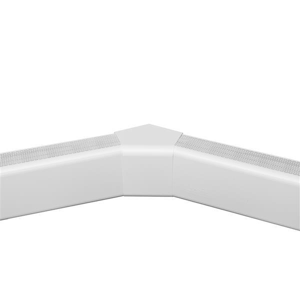 Veil Titan Baseboard Heater Cover - 135° Inside Corner - 2-3/4-in - Satin White Aluminum