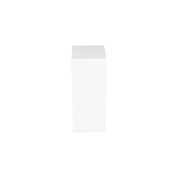 Veil Atlas Baseboard Heater Cover - Zero Clearance Endcap - 2-3/4-in - Satin White Aluminum
