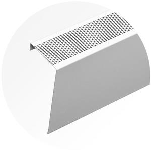 Veil Atlas Baseboard Heater Cover - 8-ft - Satin White Aluminum