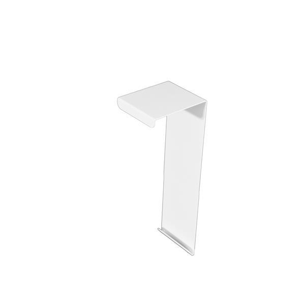 Veil Atlas XL Baseboard Heater Cover - Zero Clearance Endcap - 2-3/4-in - Satin White Aluminum