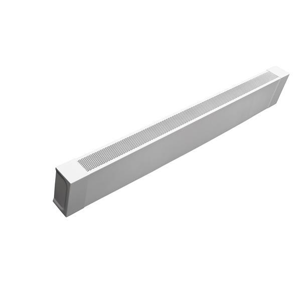 Veil Atlas Baseboard Heater Cover - 4-ft - Satin White Aluminum