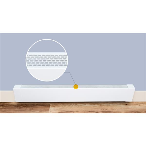 Couvre-plinthe électrique Atlas de Veil, 4 pi, blanc semi-lustré AT001-48   RONA