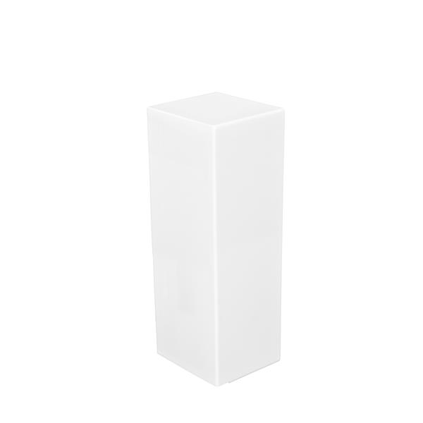 Veil Atlas XL Baseboard Heater Cover - Left Closed Endcap - 2-3/4-in - Satin White Aluminum
