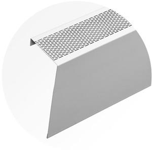Veil Atlas XL Baseboard Heater Cover - 6-ft - Satin White Aluminum