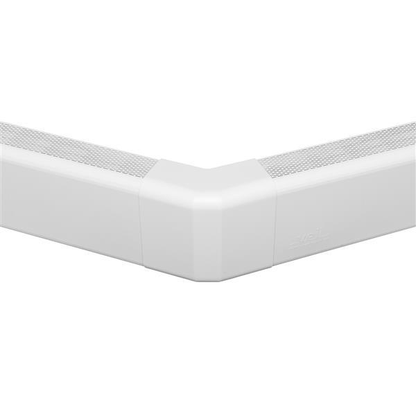 Veil Titan Baseboard Heater Cover - 135° Outside Corner - 2-3/4-in - Satin White Aluminum